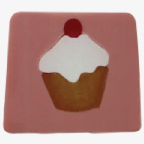 Cupcake - Cherry Fragrance Handmade Soap min 100g